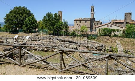 Etruscan Archaeological Excavations Of Volterra On Tuscany