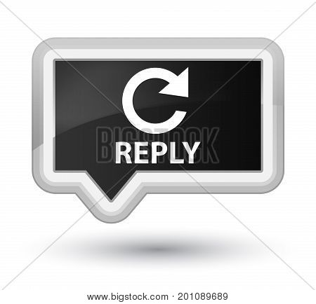 Reply (rotate Arrow Icon) Prime Black Banner Button