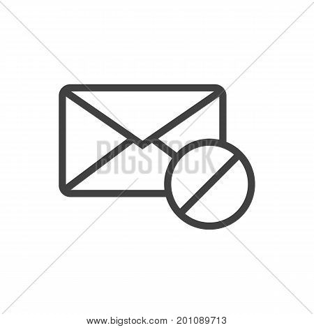 Vector Block  Element In Trendy Style.  Isolated Spam Outline Symbol On Clean Background.