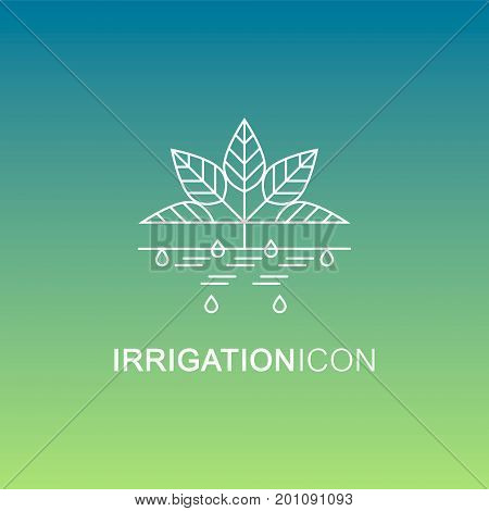 Vector Icon of Irrigation. Can be used for drip, sprinkler and any other type of irrigation.