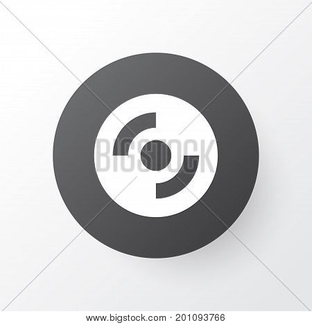 Premium Quality Isolated Blank Cd Element In Trendy Style.  Compact Disk Icon Symbol.
