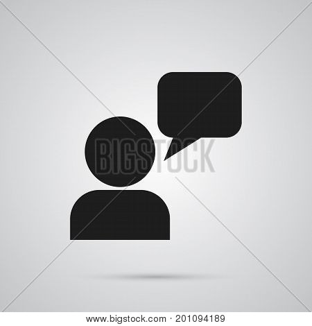 Vector Assistant Element In Trendy Style.  Isolated Consultant Icon Symbol On Clean Background.
