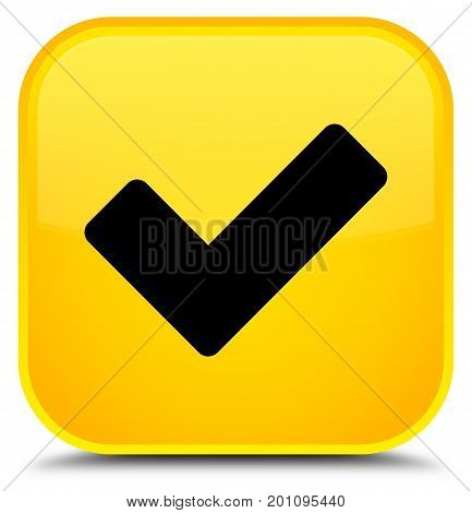 Validate Icon Special Yellow Square Button
