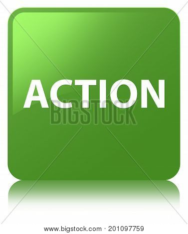 Action Soft Green Square Button