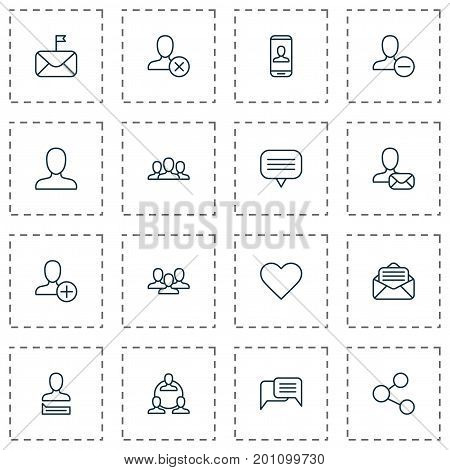 Communication Icons Set. Collection Of Read Message, Chatting, Teamwork And Other Elements