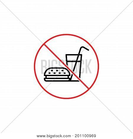 No Food Sign On White Background