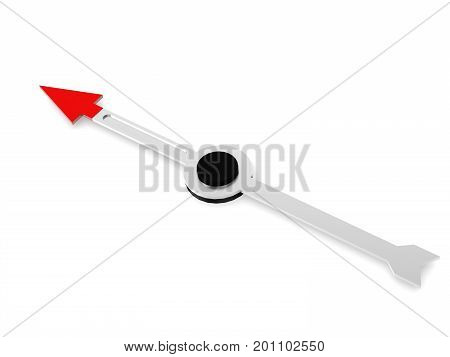 Compass Over White Background