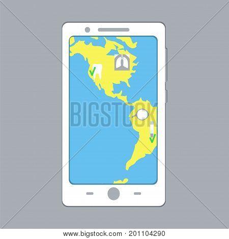 E-medicine Smartphone Concept