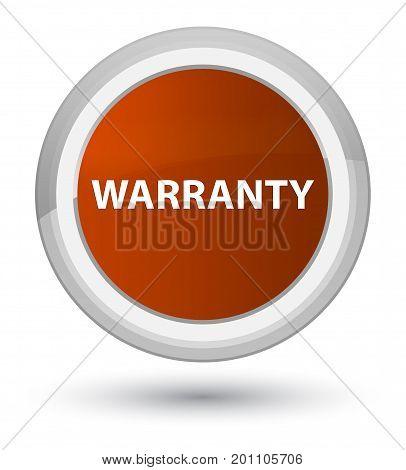 Warranty Prime Brown Round Button