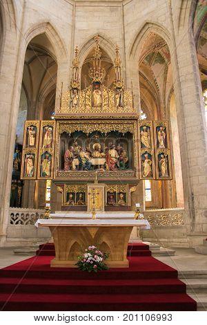 The interior of Saint Barbara church, Kutna Hora