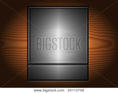 Metal And Wood Plaque