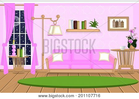 Interior Living Room Vector & Photo (Free Trial) | Bigstock