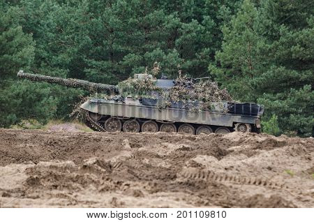 TANK - Old German combat vehicle in the forest
