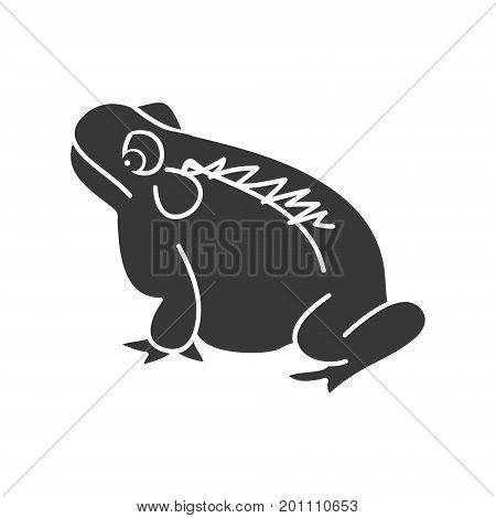 frog silhouette on white background vector illustration