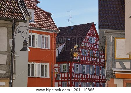 Traditional German Timber Frame House In Waiblingen (baden-wuerttemberg)traditional German Timber Fr