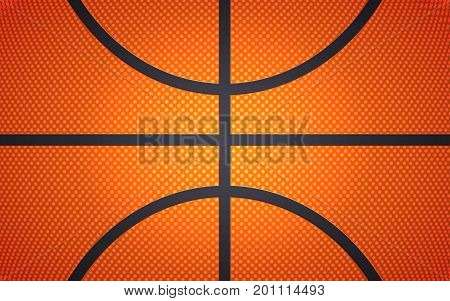 Vertical ball texture for basketball, sport background, vector illustration