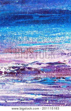 Painted Purple and Blue Background