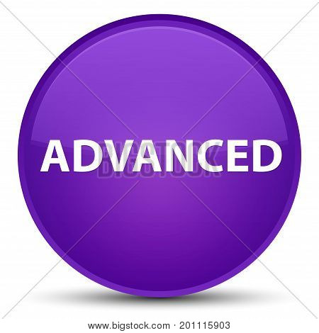 Advanced Special Purple Round Button