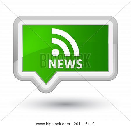 News (rss Icon) Prime Green Banner Button