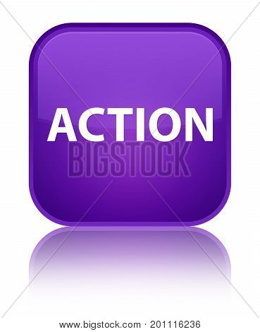 Action Special Purple Square Button