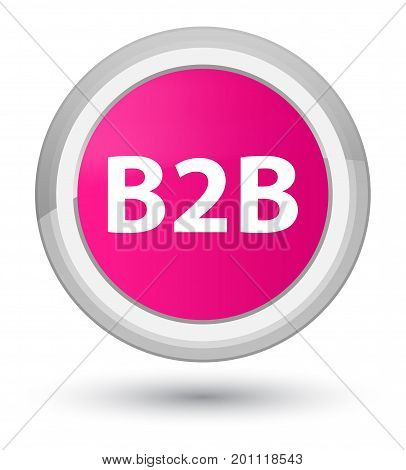 B2B Prime Pink Round Button