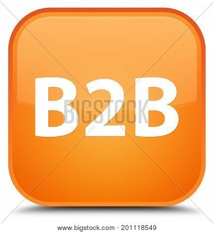B2B Special Orange Square Button