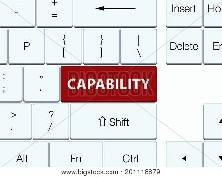 Capability Brown Keyboard Button