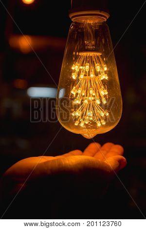 Light Bulb With Hand