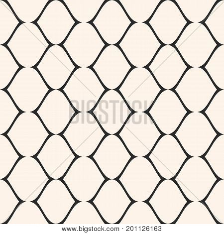Mesh pattern. Vector seamless texture. Simple illustration of delicate lattice, lace, fishnet. Abstract geometric pink monochrome repeat background.