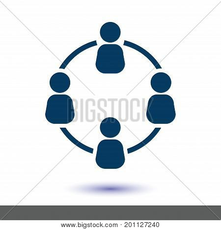 Communication concept. Social network single icon. Global technology. The network of social connections in the business.