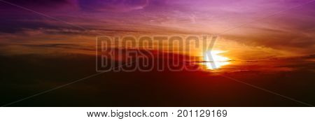 Abstract background. Beautiful sky sunset on caribean.