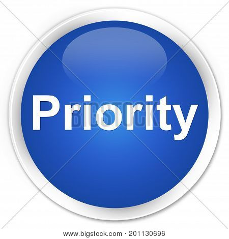 Priority Premium Blue Round Button