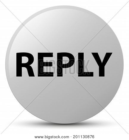 Reply White Round Button