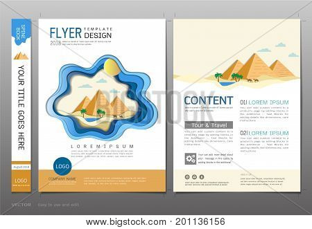Covers book design template vector, Travel and tourism concept, Use for brochure, annual report, flyer - leafle, magazine, poster, corporate presentation, portfolio, banner, website (A4 size layout)