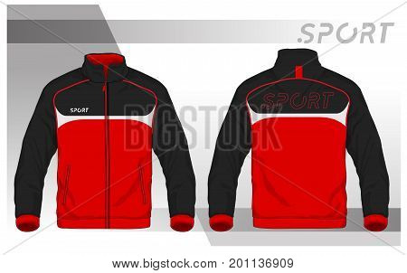 Vector illustration of sport jacket,Men Sport Jacket Vector Template