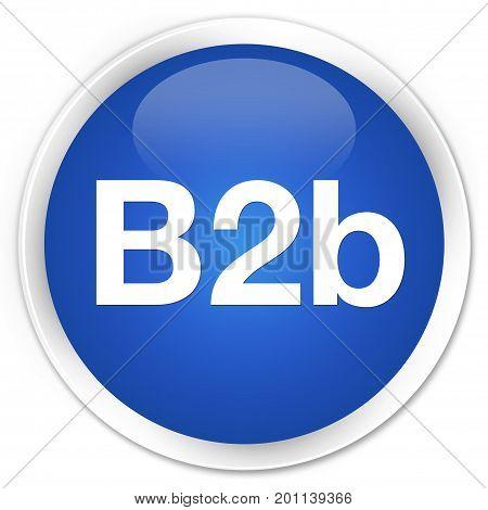 B2B Premium Blue Round Button