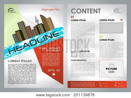 Vector Flyer, Corporate Business, Annual Report, Brochure Design And Cover Presentation With Red Col