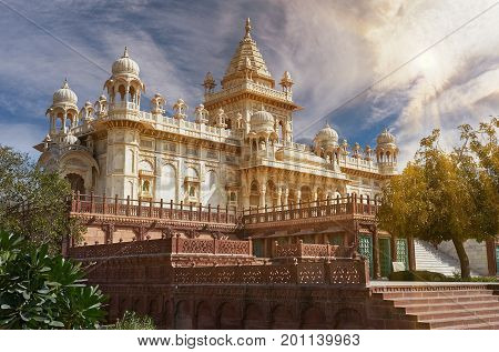 The Jaswant Thada Is A Cenotaph Located In Jodhpur, In The India