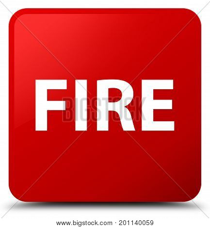 Fire Red Square Button