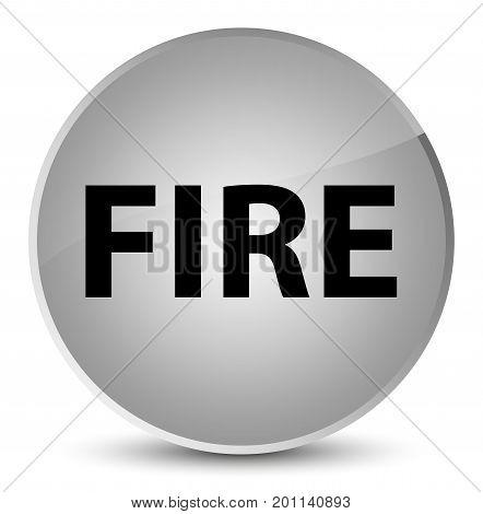 Fire Elegant White Round Button