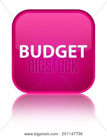 Budget Special Pink Square Button