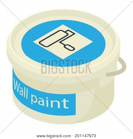 Paint bucket icon. Isometric illustration of paint bucket vector icon for web