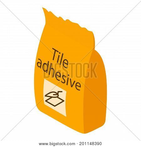Tile adhesive icon. Isometric illustration of tile adhesive vector icon for web