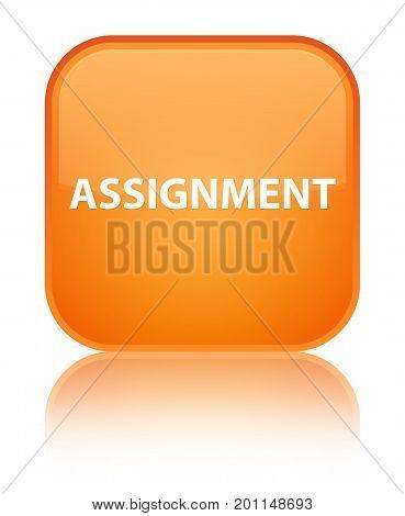 Assignment Special Orange Square Button