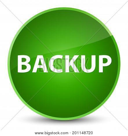 Backup Elegant Green Round Button