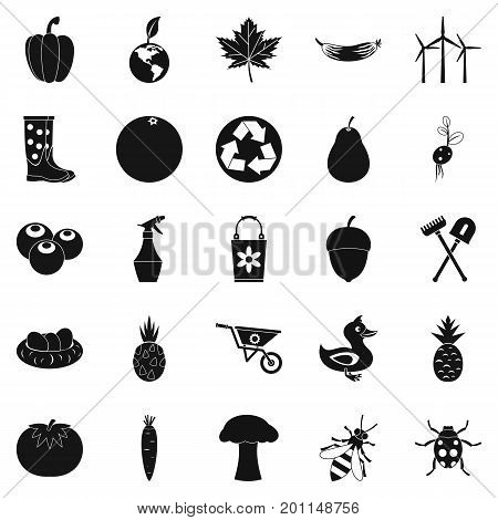 Pleasure ground icons set. Simple set of 25 pleasure ground vector icons for web isolated on white background