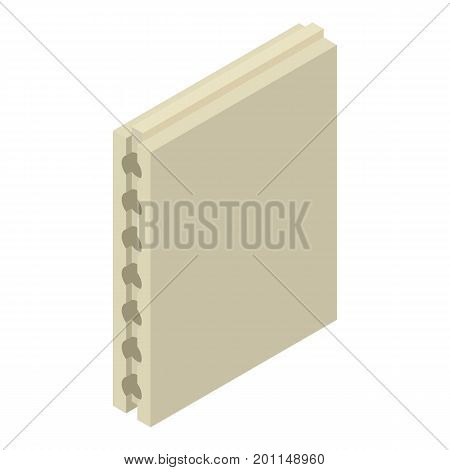 Aerated concrete icon. Isometric illustration of aerated concrete vector icon for web