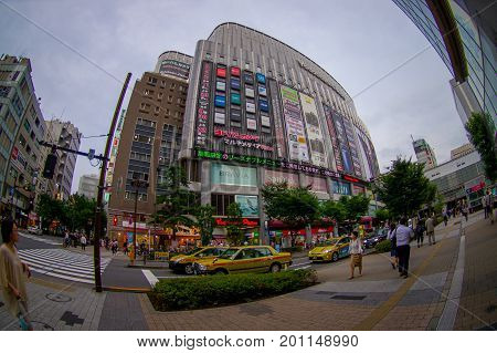 TOKYO, JAPAN JUNE 28 - 2017: Yodobashi camera store building in Namba, Yodobashi is one of the electronic mega store in Japan.