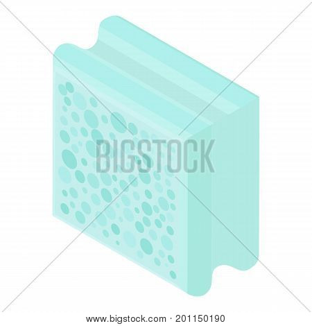 Aerated block icon. Isometric illustration of aerated block vector icon for web