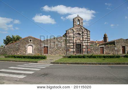 Romanesque Church Of San Palmer Ghilarza In Sardinia.